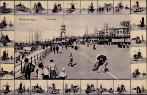 Ak Scheveningen Den Haag Südholland, Boulevard, Windmühlen