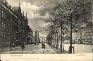 Ak Rotterdam Südholland Niederlande, Coolsingel