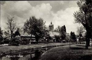 Ak Rotterdam-Zuid Südholland Niederlande, Leede, Partie am Fluss