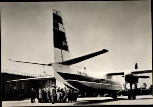 Ak Deutsches Passagierflugzeug, Interflug, Turboprop Antonow AN 24, DM SBE