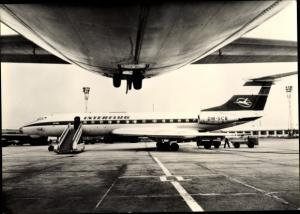 Ak Deutsches Passagierflugzeug, Interflug, Tupolew TU 134, DM SCB