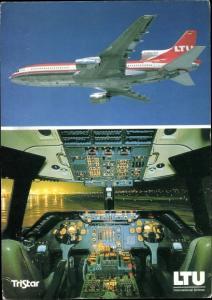 Ak Deutsches Passagierflugzeug, LTU, Tri Star L 1011 500, Cockpit