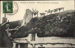 Ak Bonnelles Yvelines, Hallali sur un toit a Gambaiseuil