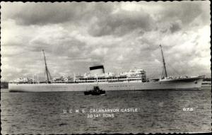 Ak Steamer Carnarvon Castle, Dampfschiff, Union Castle Line