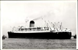 Foto Ak Steamer Ivernia, Dampfschiff, Cunard Line
