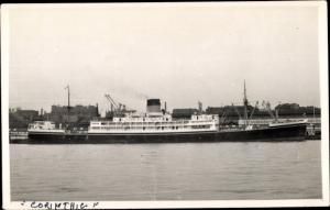 Foto Ak Steamer Corinthic, Dampfschiff, Shaw Savill Line