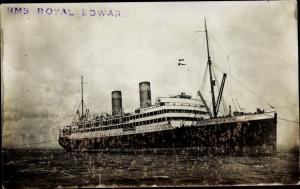 Foto Ak Steamer RMS Royal Edward, Dampfschiff, Canadian Northern Steamship, Royal Line
