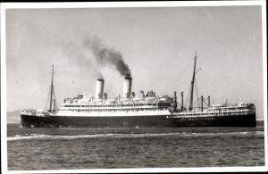 Foto Ak Steamer Orontes, Dampfschiff, Orient Line