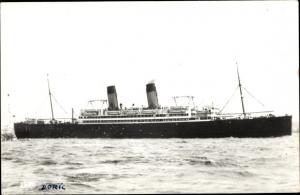 Foto Ak Steamer Doric, Dampfschiff, White Star Line