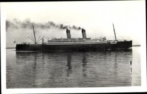 Foto Ak Steamer Laurentic, Dampfschiff, White Star Line