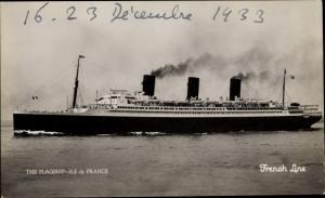 Ak CGT Dampfer Ile de France