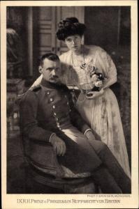 Ak Kronprinz Rupprecht von Bayern, Prinzessin Marie Gabriele von Bayern
