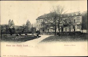 Ak Maria Laach Glees Eifel Rheinland Pfalz, Kirche, Hotel