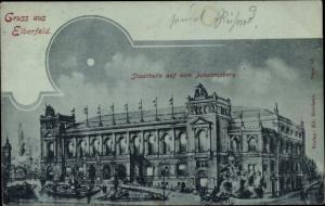 Mondschein Ak Elberfeld Wuppertal in Nordrhein Westfalen, Stadthalle auf dem Johannisberg