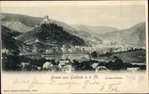 Ak Cochem an der Mosel, Panorama, Union-Hotel