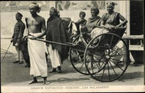 Ak Grande Exposition Indienne, Les Malabares
