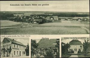 Ak Kobershain Belgern Schildau in Nordsachsen, Gasthaus zur guten Quelle, Pfarrhaus, Schloss