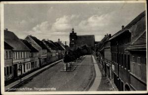 Ak Dommitzsch Elbe Nordsachsen Sachsen, Torgauer Straße