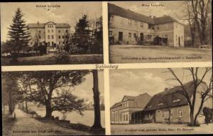 Ak Dahlenberg in der Dübener Heide, Schloss u. Haus Leipnitz, Gasthof zum grünen Hain