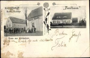 Ak Weidenhain Dreiheide Sachsen, Forsthaus, Gastwirtschaft
