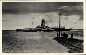 Ak Norderney in Ostfriesland, Bremer Dampfer