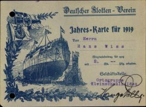Ak Kleinschmalkalden Floh Seligenthal Thüringen, Deutscher Flottenverein, Jahreskarte 1919