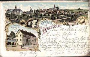Litho Birstein in Hessen, Panorama, Gasthaus zum Erbprinzen