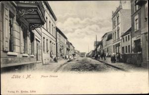 Ak Lübz in Mecklenburg, Plauer Straße