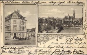 Passepartout Ak Lindenthal Köln am Rhein, Restaurant Zum Feltens Hof, Panoram