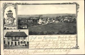 Passepartout Ak Egenhausen Kreis Calw im Nordschwarzwald, Panorama, Aussichtsturm, Kaltenbach