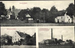 Ak Sittichenbach Lutherstadt Eisleben, Herrschaftshaus, Zuckerfabrik Großossterhausen