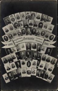 Ak Roitzsch Sandersdorf Brehna, 50 Jähriges Jubiläum der Gesellschaft Germania 1911