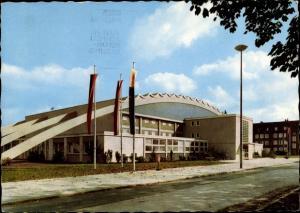 Ak Kamen Unna in Westfalen, Doppelturnhalle im Sportzentrum