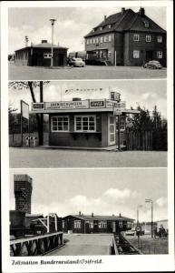 Ak Bunderneuland Bunde Ostfriesland, Zollstation