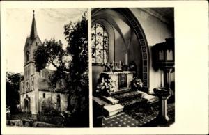 Ak Trebnitz Müncheberg in der Mark, Kreis Seelow, Kirche, Innen- und Außenansicht