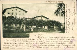 Passepartout Ak Bad Soden am Taunus Hessen, Gartenpartie am Kurhaus