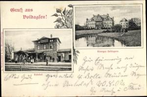 Ak Voldagsen Einbeck, Bahnhof, Rittergut