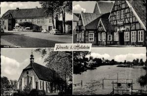 Ak Preetz in Holstein, Klostertor, Ballhaus, Klosterkirche, Kirchsee