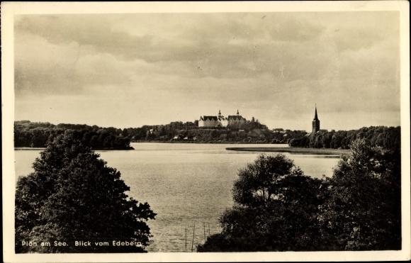 Ak Plön in Schleswig Holstein, See, Blick vom Edeberg 0