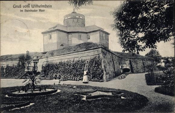 Ak Wilhelmstein Steinhude Wunstorf in Niedersachsen, Inselfestung 0