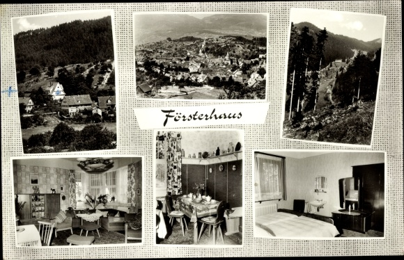 Ak Loffenau Baden Württemberg, Café und Pension Försterhaus, Gesamtansicht 0