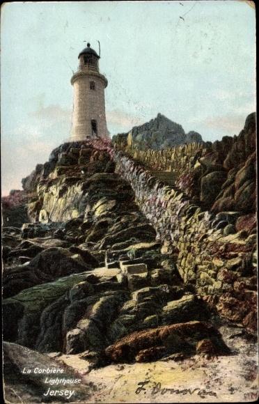 Ak Kanalinsel Jersey, La Corbiere Lighthouse 0