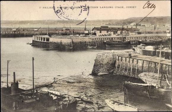 Ak St. Heliers Jersey Kanalinseln, Harbour, Great Western Landing Stage 0