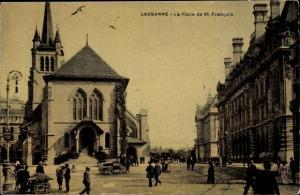 Ak Lausanne Kanton Waadt, La Place de St Francois