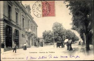 Ak Lausanne Kanton Waadt, Avenue du Theatre