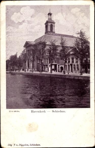 Ak Schiedam Südholland, Havenkerk 0