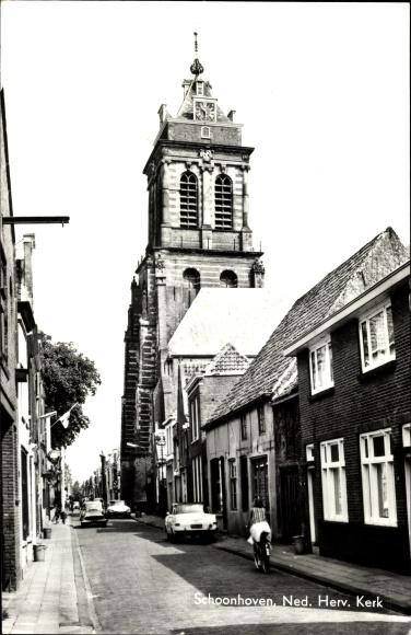 Ak Schoonhoven Südholland Niederlande, Ned. Herv. Kerk 0