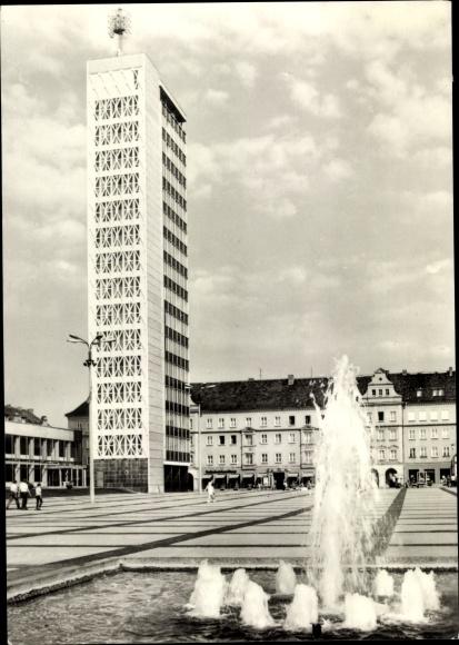 Ak Neubrandenburg in Mecklenburg, Hochhaus, Karl Marx Platz 0