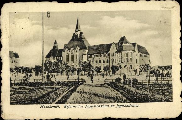 Ak Kecskemét Ketschkemet Ungarn, Reformatus fögymnazium es jogakademia, Schule 0