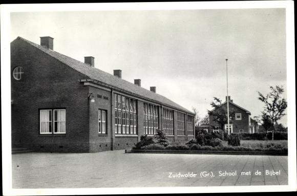 Ak Zuidwolde Groningen, School met de Bijbel, Schule 0